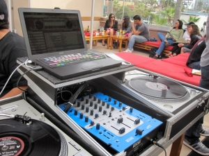 Firehouse PB DJ Booth (temporary mixer)