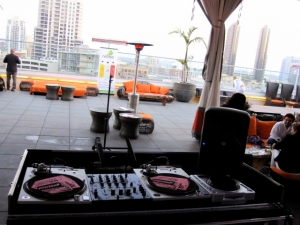 Envy Rooftop at Andaz DJ booth