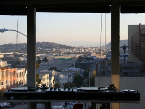 DJ Nic Hook - a set up with a view in San Francisco, California.