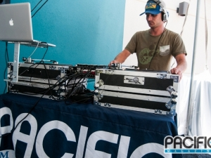 DJ'ing a Fashion Show for Pacific Magazine
