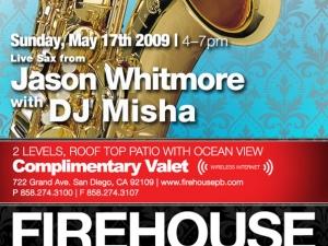DJ Misha and Jason Whitmore on live Saxophone