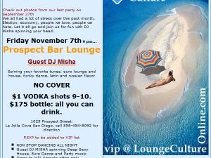 DJ Misha @ Prospect Bar and Lounge