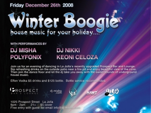 Winter Boogie at Prospect Bar and Lounge