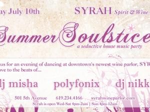 Syrah Wine Parlor San Diego with DJ Misha