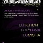 Vitality Thursdays @ Prospect Bar and Lounge