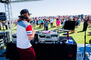 DJing at Uncorked Wine Festival 2017 in San Diego